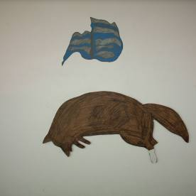 15 mr jack 2006 , wood,pencil, sugar paper.15
