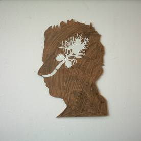 21 mr jack 2006, wood, sticky plastic , 21