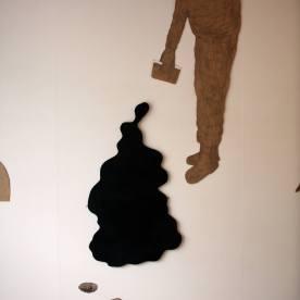 24 mr jack 2006 , wood,black board paint, pencil, sticky plastic.24