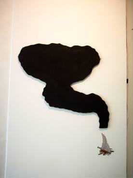 6 mr jack 2006 , wood,black board paint, pencil,.6