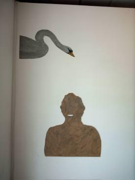 8 mr jack 2006 , wood, pencil, sticky plastic.8